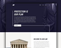 Lines Law Website - Concept