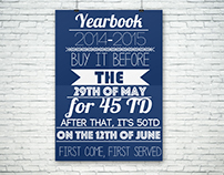 My Media Arts students Yearbook Advert poster project