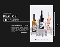 Wine store template design
