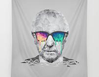Albert Hofmann - Psychedelic Polygon Portrait