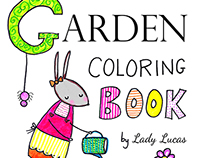 Zinnie's Garden Coloring Book for Adults or Kids