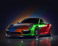 Colorful Porsche