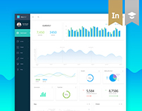 Material Style Dashboard Design