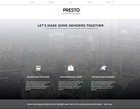 Presto Simple Corporate Website Concept
