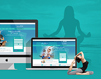 yoga Club Web interface design