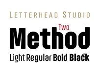 Method Two Typeface by Letterhead