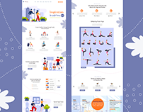 Yoga Landing Page Web Design - UI / UX