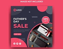 Fathers Day Sale Social Media Banner