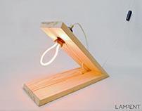 Pinewood table lamp