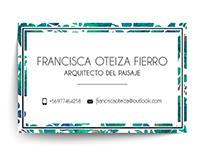 Tarjeta de presentación Francisca Oteiza
