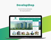 Building shop/E-commerce template/Web design/UI/UX