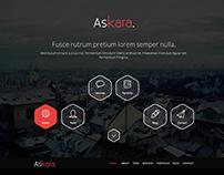 Askara - One Page PSD Website