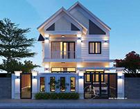 25 mẫu nhà biệt thự mini đẹp 2 tầng 2021