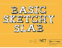 Basic Sketchy Slab (Font design)