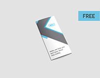 Free 2 PSD files Trifold Brochure Mockups