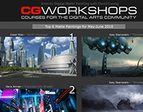 Digital Matte Painting CGWorkshop Student Work