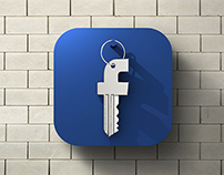 FB security - iOS flat icon