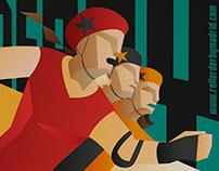 Roller derby event artwork #3