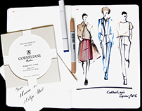 Live sketches from the Corneliani show