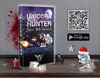 Advertising for the Unicorn Hunter Xmas game
