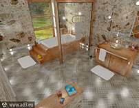 Bathroom in Blender3D 2.80