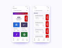 Coupon website mobile ui
