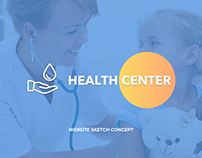 Health Center / Sketch Website Concept