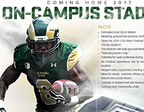 Colorado State Stadium Fliers for Recruiting