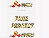four percent banner design