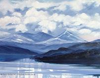 Loch Tay, oil on canvas