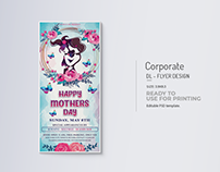 Happy Mothers Day Rack Card Title Design