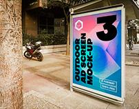 Outdoor Advertising Screen Mock-Ups 14 (v.6)