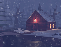 Low Poly - Cabin in the Woods