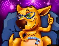 kangaroo art for game Slotomania. Playtika