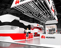 Exhibition stand for company «HUAWEI»