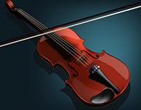 Violin - Digital Illustration