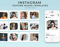 25 Free Textured Instagram Mask PSD Templates