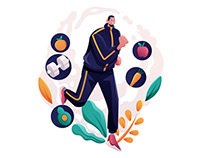 Sport And Health Illustration