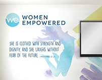 Women Empowered logo and wall design for KeHE