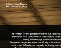 E-commerce Mobile Responsive Product