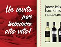 """Peças """"Jantar Italiano harmonizado - Wein Haus"""""""