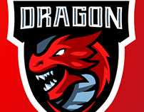 Dragon Gaming Mascot Logo | Sports Logo | eSports Logo