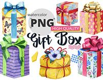 Free Watercolour Gift Boxes