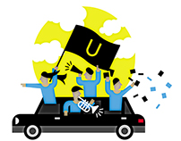 UBER revolution illustration