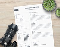 Greyline Resume Template