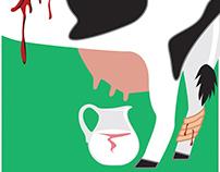 Calf Farm Cruelty Poster Design