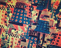 Total Unicorn Dalek Risograph Prints