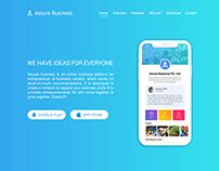 Assure Business App - Landing Page