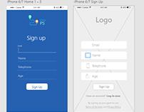 Ips UX/UI App