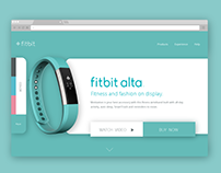 Daily UI #003 Fitbit Alta Landing Page